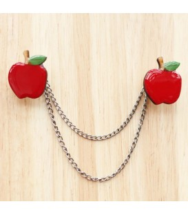 Apple Cardigan Clips
