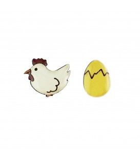 Perfect Pairs - Chicken and Egg Earrings