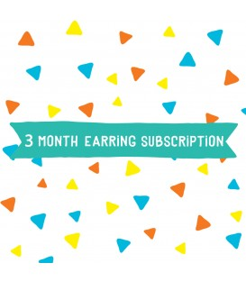 Option 1 - Earrings - 3 Month Subscription