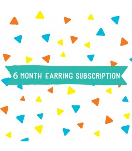 Option 2 - Earrings - 6 Month Subscription