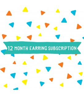 Option 3 - Earrings - 12 Month Subscription
