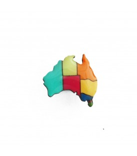Australiana - Australia Map Lapel Pin - Temperate