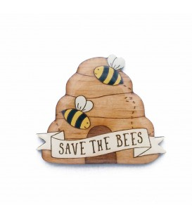 Save The Bees Brooch