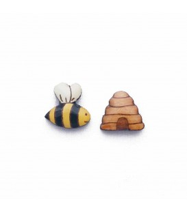 Bee and Hive Earrings