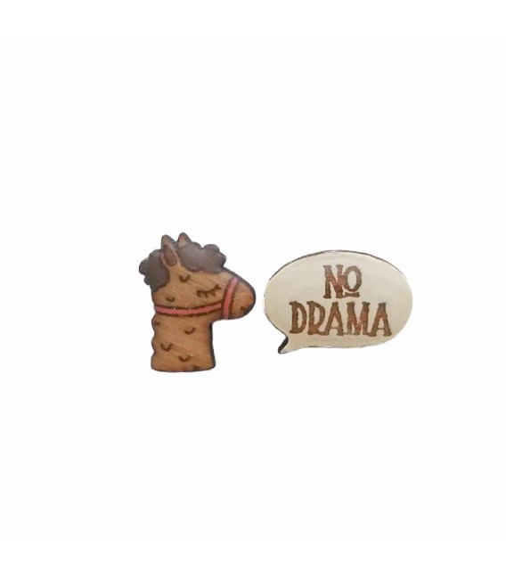 """No Drama"" Llama Earrings"