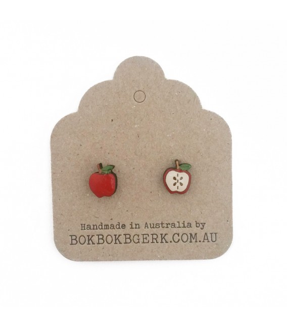 Apple / Sliced Apple Earrings
