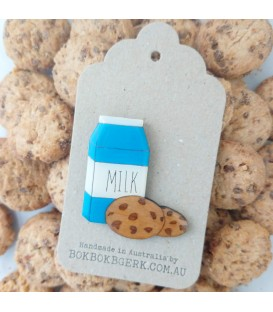 Milk and Cookies Brooch
