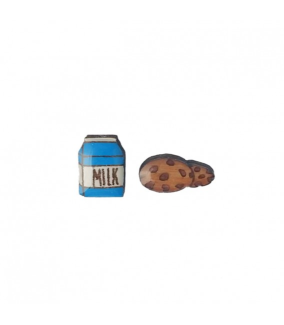 Milk and Cookie Earrings