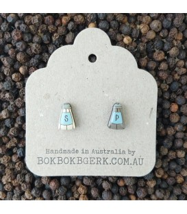 Salt and Pepper Earrings