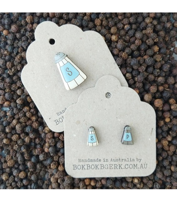 Salt and Pepper Earrings