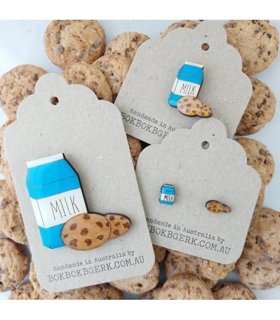 Milk and Cookies Lapel Pin