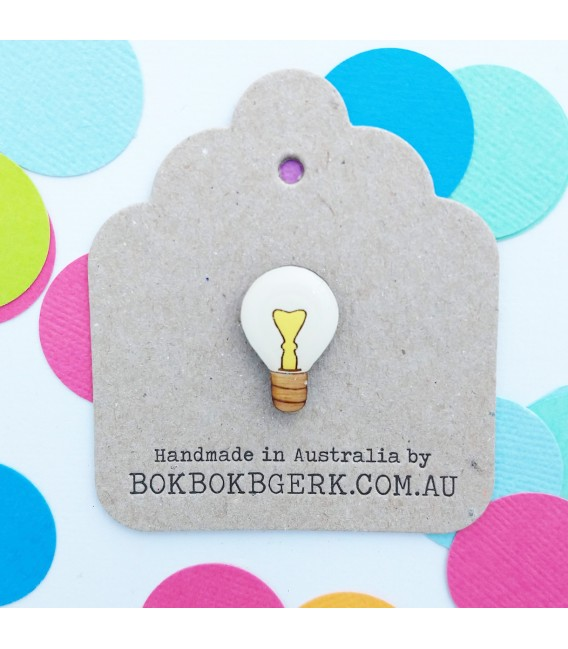 Lightbulb Lapel Pin