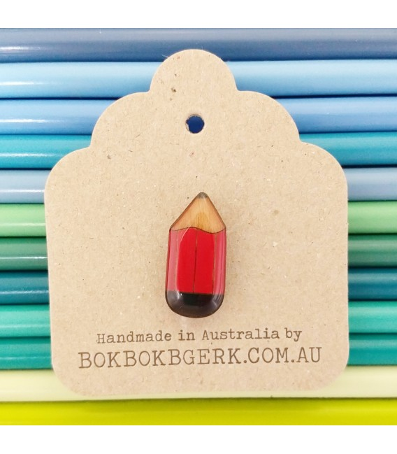 Pencil Lapel Pin (Red)