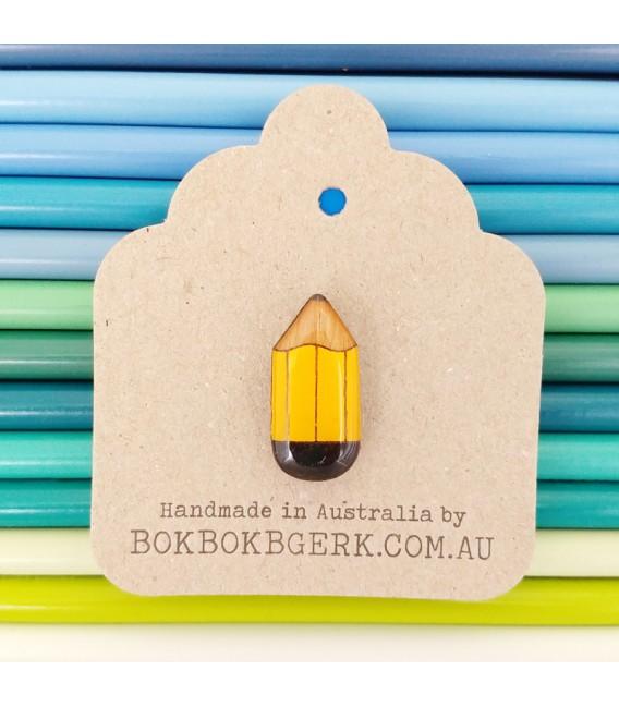 Pencil Lapel Pin (Yellow)