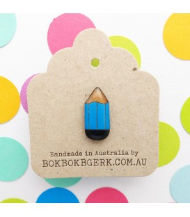 Pencil Lapel Pin (Blue)