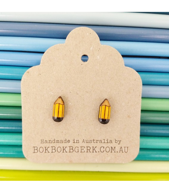 Pencil Earrings (Yellow)