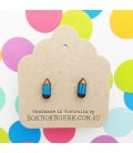 Pencil Earrings (Blue)
