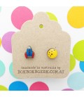 Rocket & Moon Earrings