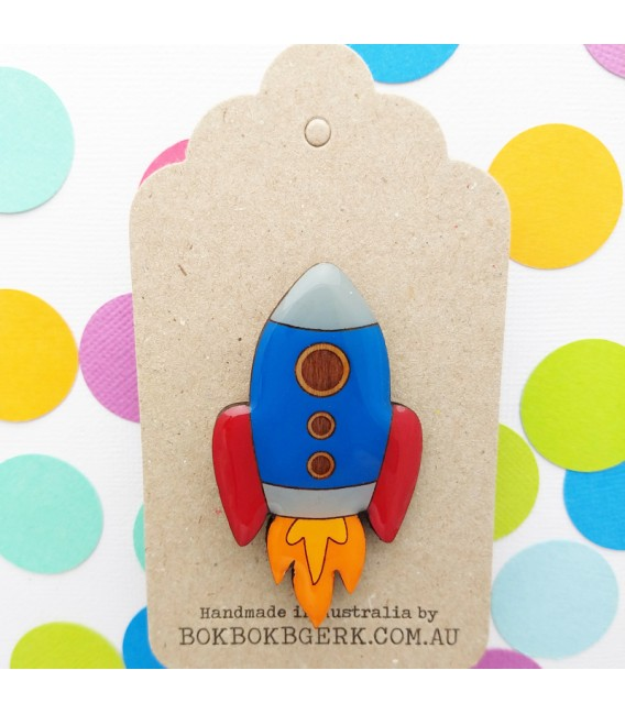 Rocket Brooch