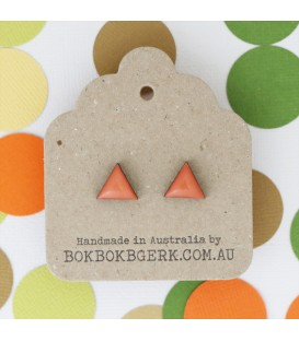 Triangle Earrings (Dusty Orange)