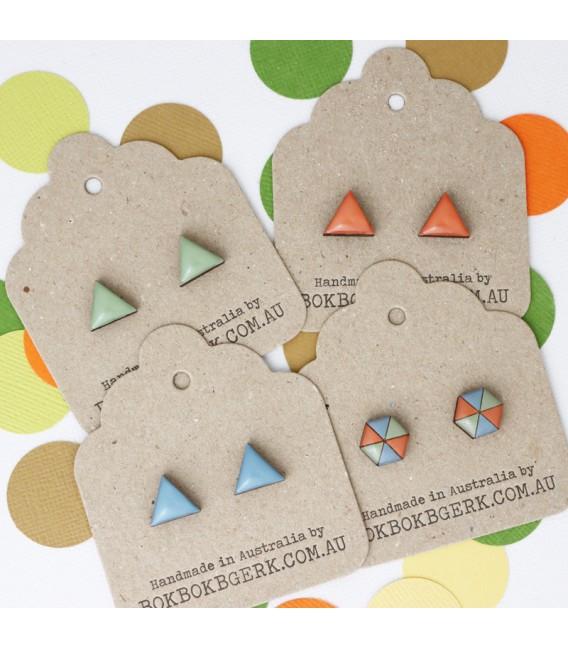 Triangle Earrings (Dusty Orange)