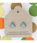 Triangle Earrings (Dusty Blue)