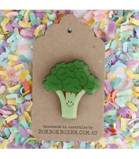 Broccoli Brooch
