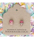 Paint Brush and Can Earrings (Pink)
