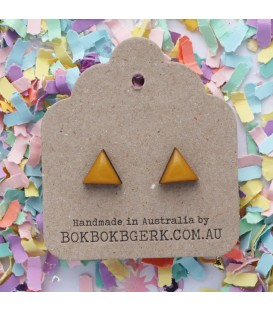 Triangle Earrings (Mustard)