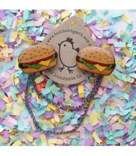 Hamburger Cardigan Clips