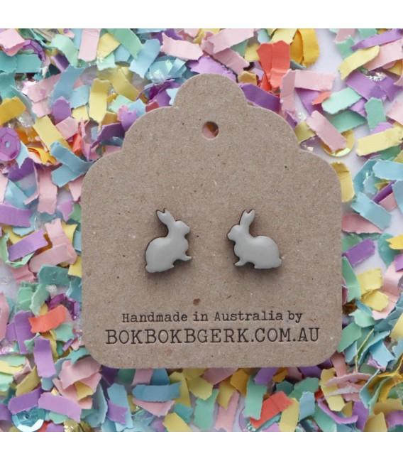 Rabbit Earrings - Grey
