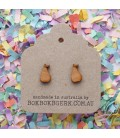 Fruity Pear Earrings (Wooden)