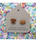 "Telephone ""Hello"" Earrings (Wooden)"