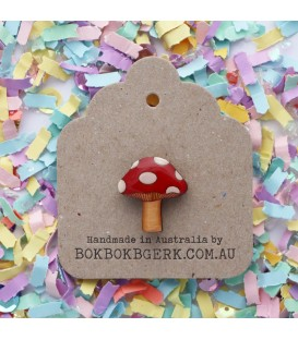 Toadstool Lapel Pin