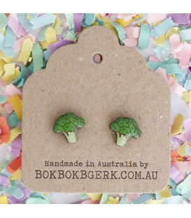 Vegetable Earrings - Broccoli