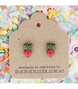 Vegetable Earrings - Radish