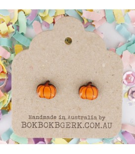 Vegetable Earrings - Pumpkin