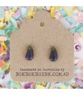 Vegetable Earrings - Eggplant
