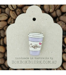 Coffee Cup Lapel Pin (Purple)