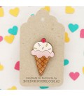 Icecream Brooch
