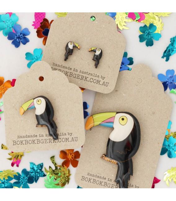 Tutti Fruity - Toucan Earrings