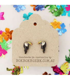 Tutti Fruity - Toucan Earrings