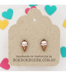 Icecream Earrings (Strawberry)