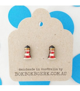 Lighthouse Earrings - Red