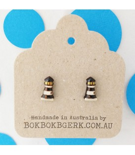 Lighthouse Earrings - Black