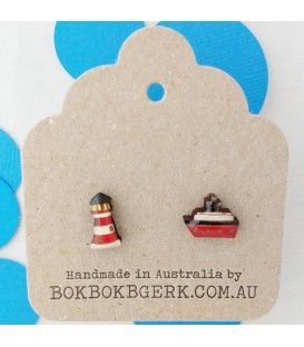 Lighthouse/Ship Earrings