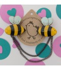 Bee Cardigan Clips