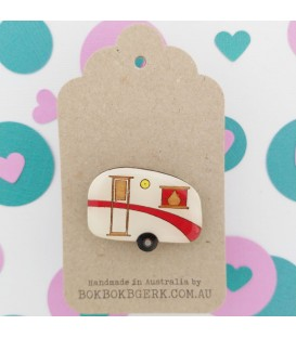Caravan Brooch - Red