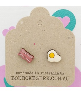 Egg and Bacon Earrings