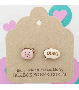 "Pig ""Oink"" Earrings"